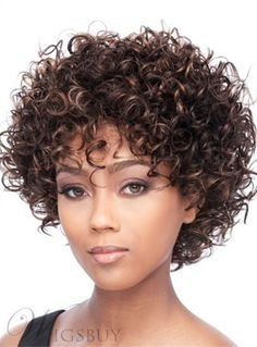 #WigsBuy - #WigsBuy Hot Sale Short Kinky Curly Capless Human Hair Wig 10 Inches - AdoreWe.com