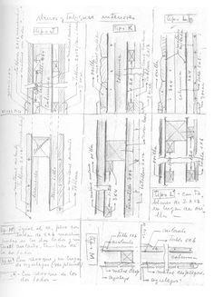 Sistemas de composición de paredes interior-exterior. Autor: Alejandro Bustillo (Col. A. Bustillo en ARCA)