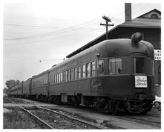 The Abraham Lincoln, train no. 2, enroute to Texas 1963. Springfield, Illinois.