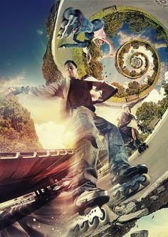 Banner Roces - Inline Skate by Fábio Araujo, via Behance