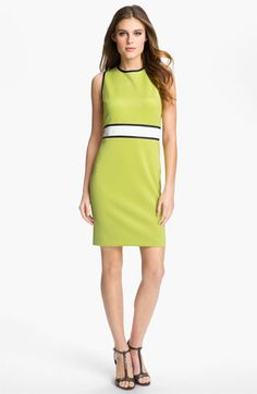 Donna Morgan 'Delia' Contrast Trim Sheath Dress available at #Nordstrom