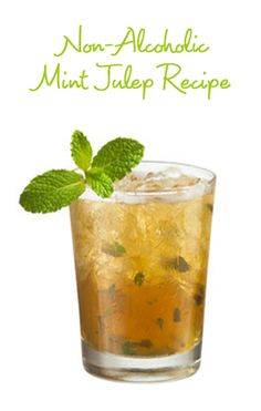 Race to Eat! Festive Kentucky Derby Party Food *Mint Tea (or lemon and mint for a non alcoholic take on a Mint Julep). Mezcal Cocktails, Whisky Cocktail, Spring Cocktails, Mint Julep Recipe Non Alcoholic, Non Alcoholic Drinks, Beverages, Kentucky Derby, Run For The Roses, Derby Day