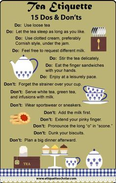 15 Tea Etiquette Dos and Don'ts
