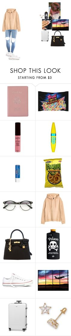 """""""~ airplane mode ~"""" by foodislyfe ❤ liked on Polyvore featuring Royce Leather, NYX, NARS Cosmetics, Maybelline, Nivea, H&M, Hermès, Converse and Rimowa"""