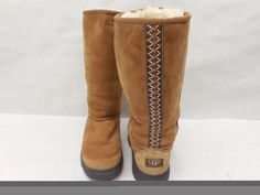 Ugg Australia Womens  5340 Chestnut Suede Ultimate Tall Braid Boots Size 7 by…