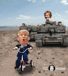 Donald Trump vs Hillary Clinton – Funny Pictures