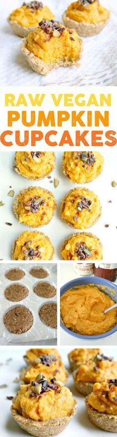 Raw Pumpkin Cupcakes - The Ultimate List of 23 Nutritious Raw Vegan Desserts