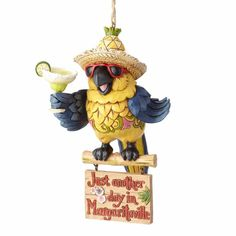 Margaritaville Parrot Hanging Ornament
