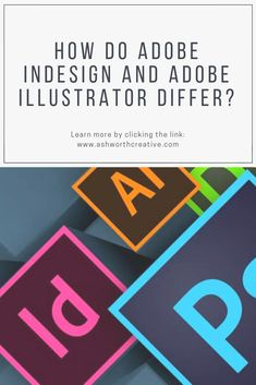 In order to be a good graphic designer, you have to know the differences between the most popular Adobe programs and when is the best time to use each program. What Is Adobe Illustrator, Map Artwork, Adobe Indesign, Graphic Designers, Page Design, Booklet, Purpose, Presentation, Things To Come