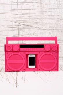 Urban Outfitters - pink boombox!