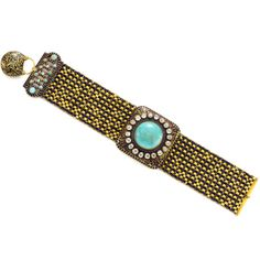 Antique Turquoise and diamond bracelet, circa 1830 Provenance: The Thurn und Taxis Collection