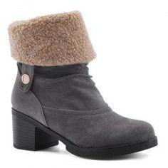 Gamiss - Gamiss Block Heel Suede Boots - AdoreWe.com