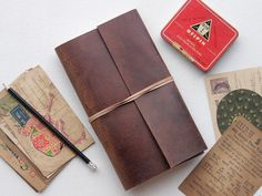 Leather Travel Journal Handmade by artisans from Scaramanga