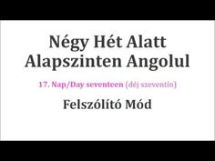 Könnyen, Gyorsan Angolul 1-106. nap - YouTube English Language, Nap, Cards Against Humanity, Education, Youtube, School, English People, English, Schools