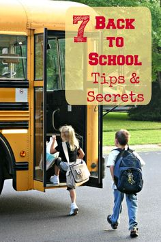 Great ideas & tips for making back to school easier!  Especially the one with clothes!