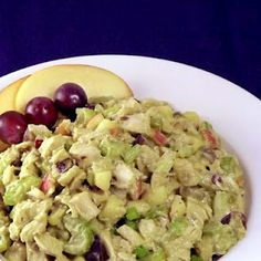 Waldorf-Inspired Avocado Chicken Salad (paleo/primal)