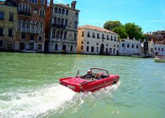 An amphicar in Venice, via Flickr.