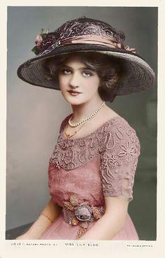 Edwardian hat and dress