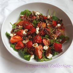 Strawberry Goats' Cheese and Pancetta Salad | A Cookbook Collection