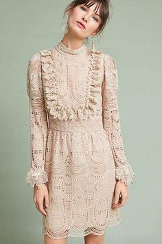 Beautiful Vintage Style :) Anna Sui Scalloped Lace Dress #anthropologie #anthrofave #anthrohome #dresses #vintagedress #vintage #ad