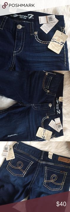 Seven 7 Jeans New with Tag attached New with Tag attached Size 12  Skinny Fit  Excellent Dark Blue Color   Inseam 28 inches  Waist  16 inches Seven7 Jeans Skinny