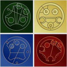 Harry Potter + Doctor Who (House names in Gallifreyan)