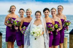 Love this with the ocean and the purple  Real Wedding | Kristin & Scott » The Bridal Detective