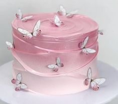 16th Birthday Cake For Girls, Butterfly Birthday Cakes, Creative Birthday Cakes, Pretty Birthday Cakes, Cute Birthday Cakes, Butterfly Cakes, Pretty Cakes, Watercolor Cake, Themed Wedding Cakes