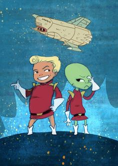 Futurama, Zapp and Kif chibi style