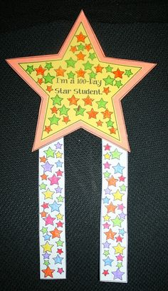 Classroom Freebies: 100 Day Star Badge