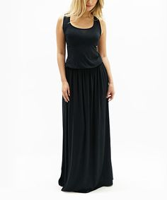 Look what I found on #zulily! Black Sophia Maxi Dress #zulilyfinds