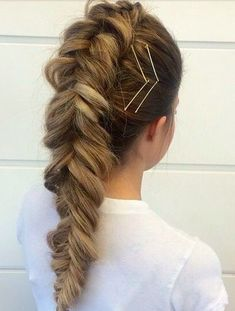 Fishtail Braided Long Hairstyles for Teenage Girls