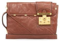juicy couture 'lock see you clutch' - brown. $195.