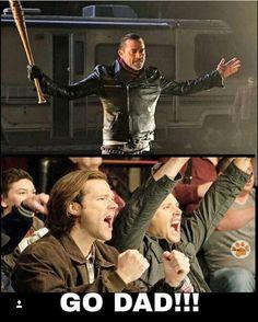 Jeffrey dean morgan as Negan / twd supernatural