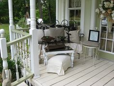 shabby country porch