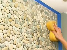 How to Apply Pebble Tile on a Wall : How-To : DIY Network