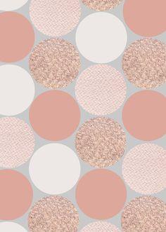Rose Gold Dots - by Georgiana Paraschiv