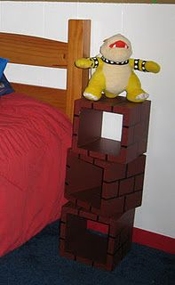 Mario bedroom ideas for Thomas. Super simple made form scrap wood, brick colored paint and a large sharpie. Diy Home Decor Bedroom, Boys Room Decor, Kids Bedroom, Bedroom Ideas, Boy Bedrooms, Super Mario Room, Nintendo Room, Brick Colors, Gamer Room