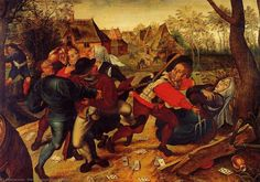 Pieter Brueghel the Younger : Peasant Brawl (Ancien Collection Coppee (Belgium)) 1564-1636 ピーテル・ブリューゲル (子)