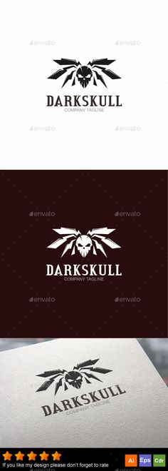 Dark Skull — Vector EPS #head #club • Available here → https://graphicriver.net/item/dark-skull/17929461?ref=pxcr