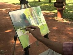 ▶ Milind Mulick Outdoor Demo in watercolour - YouTube