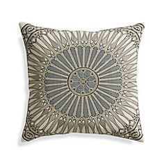 """View larger image of Fabian Grey 20"""" Pillow with Feather-Down Insert"""