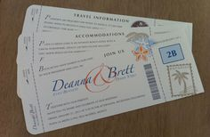 DIY Airplane Ticket Invitations Ticket invitation Template and