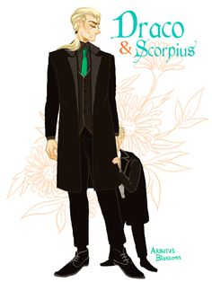 """arbutus-blossoms: """" The Malfoys """"I just wanted to draw Dad Draco with his…"""