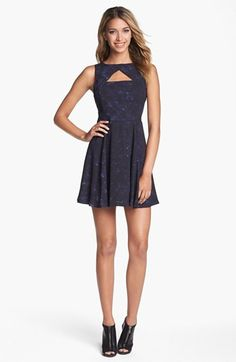 BB Dakota 'Della' Print Fit & Flare Dress available at #Nordstrom