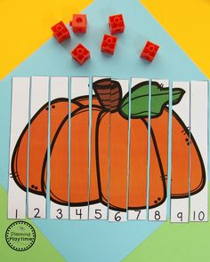 Counting to 10 Puzzle for Preschool - Pumpkin Activities for October