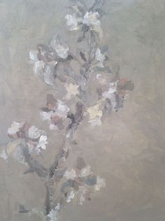 Joanna - oil painting of apple blossom - part of Exam preparation.  A2 Fine Art, Truro College. 2015