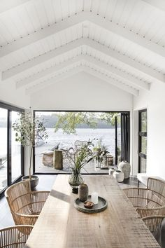 An Effortlessly Stylish and Relaxed Summer Vibe from House Doctor House styles Let's Celebrate Summer with this Awe-Inspiring and Effortlessly Stylish Outdoor Space - NordicDesign Inspiring Outdoor Spaces, Home, House Styles, Beach House Interior, Summer House, House Doctor, Interior, House Interior, Modern Lake House