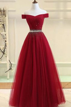 Burgundy tulle off shoulder long prom dress, burgundy evening dress, Customized . - Burgundy tulle off shoulder long prom dress, burgundy evening dress, Customized service and Rush order are available # Source by - Pretty Prom Dresses, Cute Prom Dresses, Ball Dresses, Beautiful Dresses, Ball Gowns, Long Dresses, Dress Long, Wedding Dresses, Winter Dresses