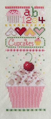Cupcake Sampler - Cross Stitch Pattern - made this sampler for my kitchen - very pretty when done,